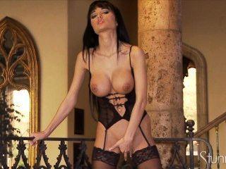 Roxanne Milana Masturbates In Lingerie