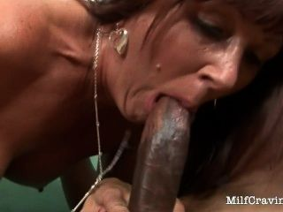 Naughty Milf Enjoys Pleasing A Black Cock