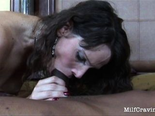 Hot Milf Feels A Black Cock Enter Her From Behind