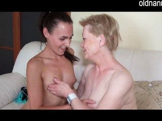 Granny And Young Alone At Home