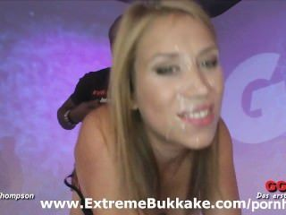 Sexy Blonde Phoebe Meets Our Hard Cocks And Goes Wild