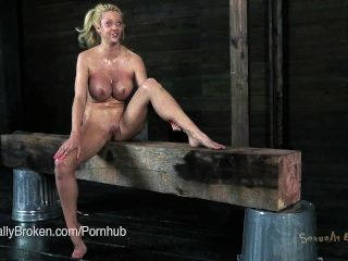 Big Boob Courtney Taylor Bound & Hung Upside Down