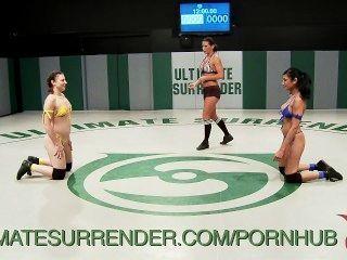 Tag Team Bikini Babe Wrestling Match