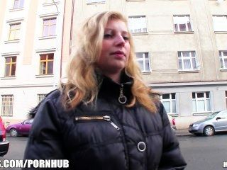 Shy Blonde Czech Girl Agrees To Take Cash For A Public Suck & Fuc