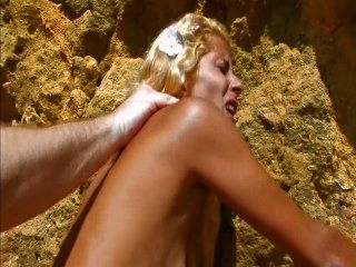 Tanned Skinny Spanish Babe Gets Fucked Hard On The Beach