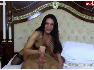 German Oiled Brunette Gets Fucked In All Holes!