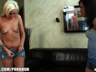 Platinum Blonde Amateur Gets Her First Casting Couch Audition