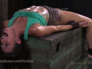 Cums down her throat