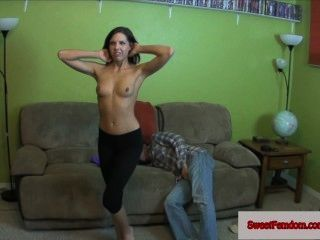 Sadie Holmes Femdom Comp Pegging Fishnets Pov Yoga Pants Ballbusting Edging