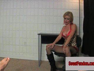 Cute Blonde Bitch Vanessa Vixon Comp Femdom Handjob Ballbusting Castratrix