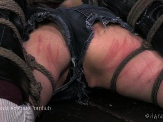 Skinny Masochist Teen Bunny Hogtied And Beaten