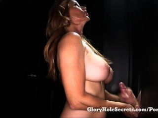 Gloryhole Secrets Milf Tabitha Giving Blowjobs At Glory Hole And Swallowing