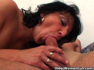 Mommy With Big Tits Gets Cum Glazed