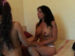 2 Hot Euro Babes Share A Cock