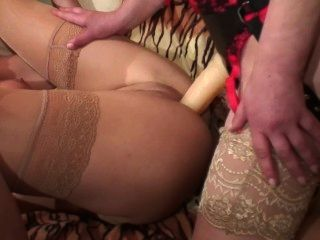 Hot Young Blonde Fucks An Old Mature Lesbian