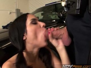 Hdvpass Slim Teen Tia Cyrus Rides Cock On Top Of A Police Car