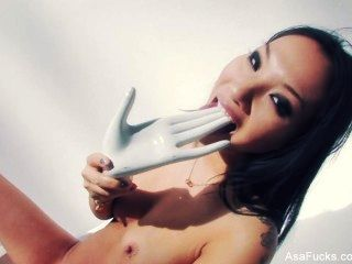Asa Akira Fucks Herself With A Dildo