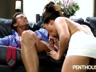 Pethouse - London Keyes Works A Hard Shaft