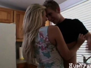 Married Mom Takes A Young Guy Creampie!