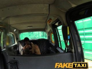Faketaxi Busty Brunette Loves Scottish Cock
