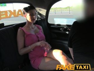 Faketaxi Prague Beauty In Backseat London Sex Cab Holiday