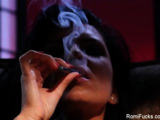 Romi Rain Rams Herself With A Glass Dildo