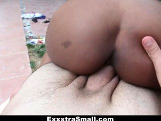 Exxxtrasmall - Ebony Ashton Devine Fucking Outdoors