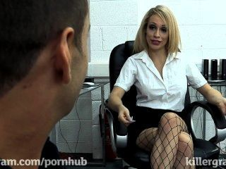 Blonde Secretary With Big Tits Gets Fucked In The Office