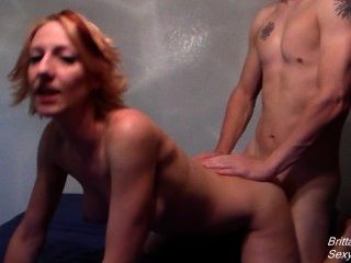 Thick Creampie After Riding And Doggystyle Fucking