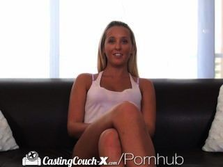 Casting Couch-x Florida Beach Blonde Fucks On Cam