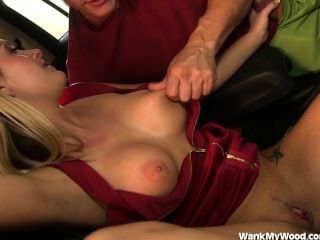 Hot Blonde Teen Jerks Off Older Man
