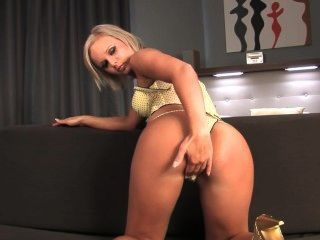 Cute Blonde Enjoys Herself
