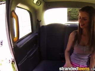 Strandedteens - Sexy Teen Sucks Cock In A Cab