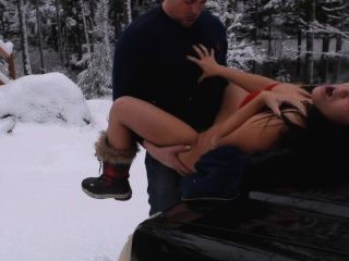 Xxxmas Plowing My Sexy Petite Girlfriend