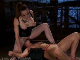 Electric Lesbian Painslut Bondage