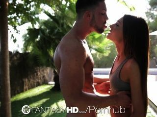 Hd Fantasyhd - Alexis Brill Fucks Trainer Outdoors And Cumshot Indoors