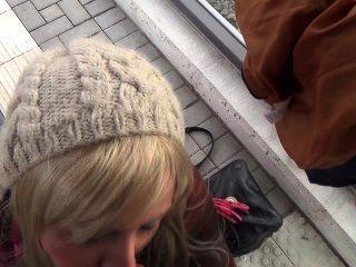 Lena-loch - Public - Blowjob Am Bahnsteig Und Cumshot