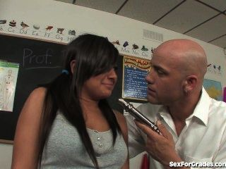 Bad Girl Teen Masturbates And Fucks Her Teacher In Detention!