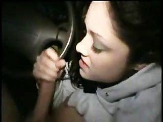 Brunette Getting Facial In A Car
