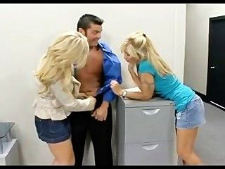 2 Blonde Milfs & 1 Lucky Guy