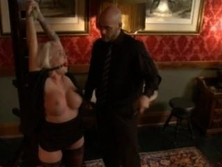 Busty Angel Vain Gets Punished Fucked In Bondage For Stealing