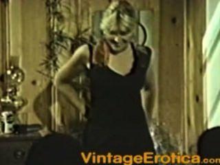 Blonde Takes Two Black Cocks Vintage