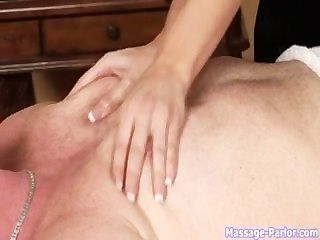 Massage Therapist With Big Boobs Put Them To Work
