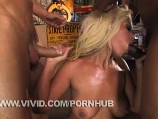 Savanna And Bridgette Have Fun In An Anal Gangbang
