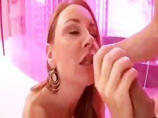 A Milf Tasting Her Creampie