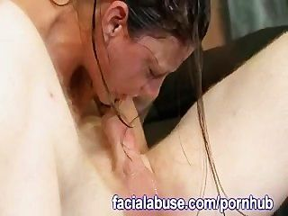 Plunging Her Throat With His Dick