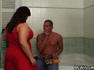 Her Huge Jugs Bounces When She Rides My Cock