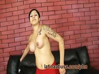 Latina Dyke Swallows Dicks For A Change