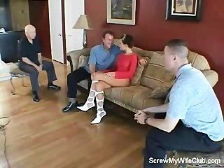 Husband Watches Wife Getting Screwed!