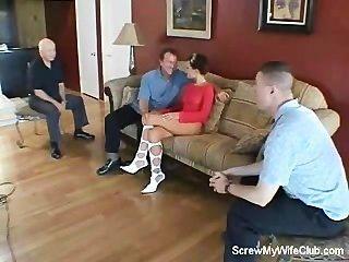 Husband Watches Wife Getting Screwed!